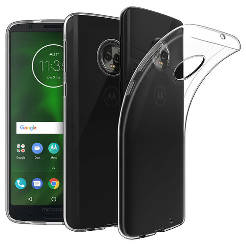 Flexi Slim Crystal Gel Case for Motorola Moto G6 Plus - Clear Gloss